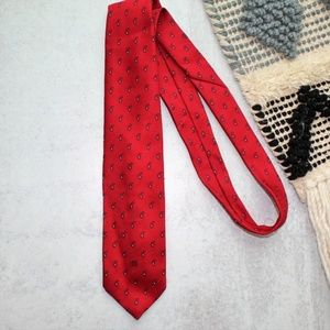 Givenchy Monsieur Vintage Men's Silk Red Tie